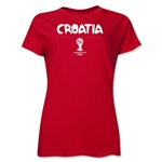 Croatia 2014 FIFA World Cup Brazil(TM) Women's Core T-Shirt (Red)