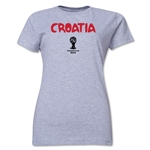 Croatia 2014 FIFA World Cup Brazil(TM) Women's Core T-Shirt (Grey)