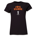 Cote d'Ivoire 2014 FIFA World Cup Brazil(TM) Women's Core T-Shirt (Black)