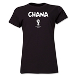 Ghana 2014 FIFA World Cup Brazil(TM) Women's Core T-Shirt (Black)