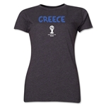 Greece 2014 FIFA World Cup Brazil(TM) Women's Core T-Shirt (Dark Grey)