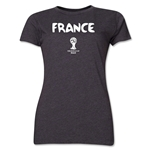 France 2014 FIFA World Cup Brazil(TM) Women's Core T-Shirt (Dark Grey)