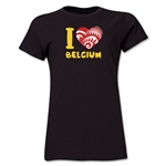 I Heart Belgium 2014 FIFA World Cup Brazil(TM) Women's T-Shirt (Black)