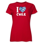 I Heart Chile 2014 FIFA World Cup Brazil(TM) Women's T-Shirt (Red)