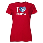 I Heart Croatia 2014 FIFA World Cup Brazil(TM) Women's T-Shirt (Red)