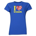 I Heart Ecuador 2014 FIFA World Cup Brazil(TM) Women's T-Shirt (Royal)