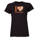 I Heart Netherlands 2014 FIFA World Cup Brazil(TM) Women's T-Shirt (Black)