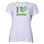 I Heart Nigeria 2014 FIFA World Cup Brazil(TM) Women's T-Shirt (White)