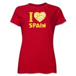 I Heart Spain 2014 FIFA World Cup Brazil(TM) Women's T-Shirt (Red)