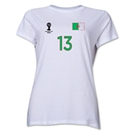 Algeria 2014 FIFA World Cup Brazil(TM) Women's Number 13 T-Shirt (White)