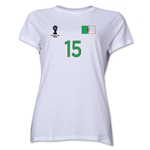 Algeria 2014 FIFA World Cup Brazil(TM) Women's Number 15 T-Shirt (White)