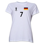 Germany 2014 FIFA World Cup Brazil(TM) Women's Number 7 T-Shirt (White)