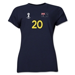 Australia 2014 FIFA World Cup Brazil(TM) Women's Number 20 T-Shirt (Navy)