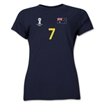 Australia 2014 FIFA World Cup Brazil(TM) Women's Number 7 T-Shirt (Navy)