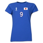 Japan 2014 FIFA World Cup Brazil(TM) Women's Number 9 T-Shirt (Royal)
