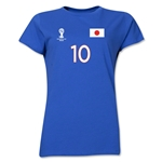 Japan 2014 FIFA World Cup Brazil(TM) Women's Number 10 T-Shirt (Royal)