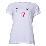 South Korea 2014 FIFA World Cup Brazil(TM) Women's Number 17 T-Shirt (White)