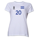Honduras 2014 FIFA World Cup Brazil(TM) Women's Number 20 T-Shirt (White)
