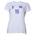 Honduras 2014 FIFA World Cup Brazil(TM) Women's Number 15 T-Shirt (White)