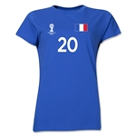 France 2014 FIFA World Cup Brazil(TM) Women's Number 20 T-Shirt (Royal)