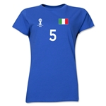 Italy 2014 FIFA World Cup Brazil(TM) Women's Number 5 T-Shirt (Royal)