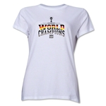 Germany 2014 FIFA World Cup Brazil(TM) Women's World Champions T-Shirt (White)
