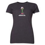 FIFA Club World Cup Morocco 2013 Women's Official Emblem T-Shirt (Dark Grey)