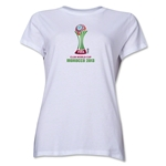 FIFA Club World Cup Morocco 2013 Women's Official Emblem T-Shirt (White)