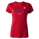FIFA U-20 World Cup Turkey Women's South Korea T-Shirt (Red)