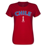 Chile FIFA U17 World Cup Chile 2015(TM) Women's T-Shirt (Red)