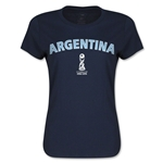 Argentina FIFA U17 World Cup Chile 2015(TM) Women's T-Shirt (Navy)