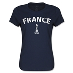 France FIFA U17 World Cup Chile 2015(TM) Women's T-Shirt (Navy)