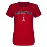 Germany FIFA U17 World Cup Chile 2015(TM) Women's T-Shirt (Red)