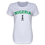 Nigeria FIFA U17 World Cup Chile 2015(TM) Women's T-Shirt (White)