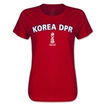 Korea DPR FIFA U17 World Cup Chile 2015(TM) Women's T-Shirt (Red)