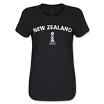 New Zealand FIFA U17 World Cup Chile 2015(TM) Women's T-Shirt (Black)