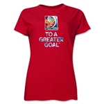 FIFA Women's World Cup Canada 2015(TM) Event Slogan Women's T-Shirt (Red)