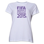 FIFA Women's World Cup Canada 2015(TM) Women's Event Emblem T-Shirt (White)
