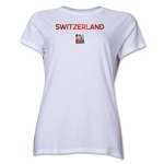 Switzerland FIFA Women's World Cup Canada 2015(TM) Women's T-Shirt (White)