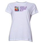 FIFA Women's World Cup Canada 2015(TM).Women's French Slogan T-Shirt (White)