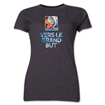 FIFA Women's World Cup Canada 2015(TM).Women's French Slogan T-Shirt (Dark Grey)