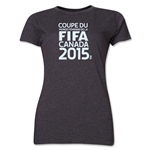 FIFA Women's World Cup Canada 2015(TM).Women's French Logotype T-Shirt (Dark Grey)