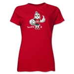 FIFA Women's World Cup Canada 2015(TM).Women's Mascot Pose 1 T-Shirt (Red)