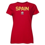Spain FIFA Women's World Cup Canada 2015(TM) Women's T-Shirt (Red)