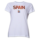 Spain FIFA Women's World Cup Canada 2015(TM) Women's T-Shirt (White)