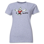 FIFA Women's World Cup Canada 2015(TM).Women's Mascot Pose 2 T-Shirt (Grey)