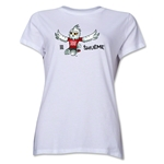 FIFA Women's World Cup Canada 2015(TM).Women's Mascot Pose 2 T-Shirt (White)