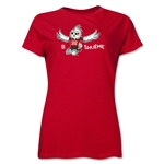 FIFA Women's World Cup Canada 2015(TM).Women's Mascot Pose 2 T-Shirt (Red)