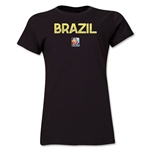 Brazil FIFA Women's World Cup Canada 2015(TM) Women's T-Shirt (Black)