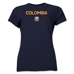 Colombia FIFA Women's World Cup Canada 2015(TM) Women's T-Shirt (Navy)